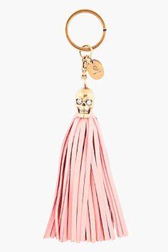 alexander mcqueen pink tassel keyring