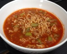 Spicy nudelsuppe