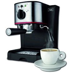 The NEW Melitta Espresso Maker delivers. With its Powerful 15 bar Italian Pump you will brew a delicious cup of espresso with ease. This machine is specially designed for use with either Easy Serve Espresso pods (E.S.E.) or your favorite ground espresso.