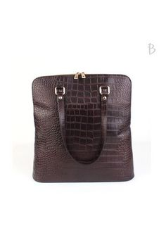 Faux Crocodile Leather Shoulder Backpack - Bags - Genuine Korean style fashion from Korea