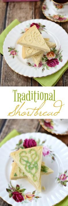 This Traditional Shortbread is simple to make, there are only 3 ingredients, and loaded with flavor. Decorating instructions included | http://cookingwithcurls.com #ad