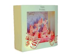 3D Box card Butterfly design | SnapDragon Snippets