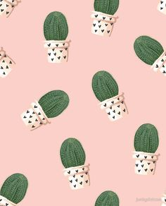 Cute Cactus Pattern poster  - Nov 30 Cyber Monday