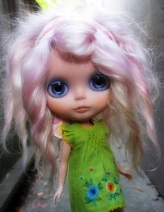 Pink Cotton Candy Hair Blythe
