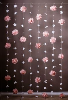 Paper Flower and Tissue Paper Puff Garland by KMHallbergDesign on Etsy https://www.etsy.com/listing/239181196/paper-flower-and-tissue-paper-puff