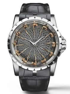 """Roger Dubuis Excalibur Knights Of The Round Table II Watch - by Rob Nudds - see more about this crazy thing: http://www.ablogtowatch.com/roger-dubuis-excalibur-knights-round-table-ii-watch/ """"A watch designer's job is to create a relationship between the wearer and their watch. The new Roger Dubuis Excalibur Knights of the Round Table II watch does this is a clever way. By decorating the dial with a culturally significant diorama, the wearer is not only comfortable with an image they have…"""