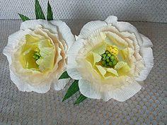 2 pcs Wedding Paper Flowers Crepe Paper Peonies Bridal shower Party shower Wreath Arch Party blossom Peonies Baby shower Wedding Table decor