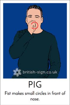 Today's ‪#‎BritishSignLanguage‬ sign is: PIG ‪#‎PigDay‬