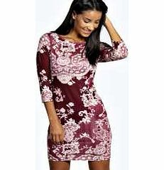 boohoo Paige Printed 3/4 Sleeve Bodycon Dress - berry Nineties revival reigns supreme with the spaghetti-strap slip dress stealing the what's hot top spot. Feminine, floaty fabrics and floral prints are our fave, with midi lengths a must-have. Go boho in http://www.comparestoreprices.co.uk/dresses/boohoo-paige-printed-3-4-sleeve-bodycon-dress--berry.asp