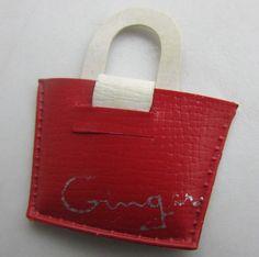 "Vintage Cosmopolitan Ginger Doll Red & White Purse Original 1950's HTF 8"" #Cosmopolitan #ClothingAccessories"