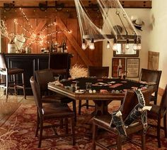 Add poker or blackjack table - Great adult Haunted Saloon Party Octagon Poker Table, Poker Table Plans, Large Table, A Table, Pool Table, Saloon Decor, Western Saloon, Western Theme, Table Games