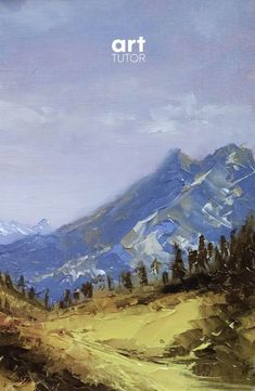Want to learn how to use a palette knife like a pro? In this NEW class, artist Peter Keegan shows you have to create a majestic mountain scene, painting with palette knives to create energy and texture >>> Landscape Artwork, Abstract Landscape Painting, How To Abstract Paint, Abstract Art, Watercolor Trees, How To Watercolor, Art Tutor, Pictures To Paint, Painting Pictures