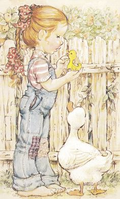 Sarah Kay Collezione Intercards No. Love Illustration, Watercolor Illustration, Sara Kay, Dibujos Cute, Comic Pictures, Holly Hobbie, China Painting, Copics, Vintage Cards