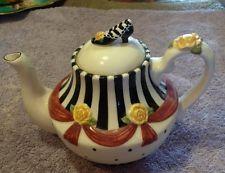 Sandy's Closet - Laura  Mini Teapot  #18212. 2001 Sandy Lynam Clough W/ Box