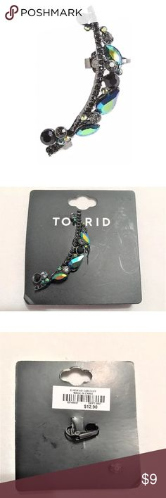 NEW Torrid Rhinestone Left Ear Cuff Pierced NEW Torrid Rhinestone Left Ear Cuff Pierced  MSRP on tag is $12.90  I try my very best to capture the correct color/shade.  The actual shade may vary in person.   Thank you so much! torrid Jewelry Earrings