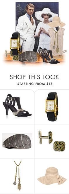 """""""Gatsby"""""""" by akadet ❤ liked on Polyvore featuring Gatsby, Solea, Stührling, New Era, Bee Charming and Jane Norman"""