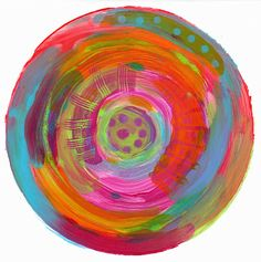 Printing with Gell Arts®: Monoprinting on a Round Gelli Plate ... and a Giveaway! -- With no beginning and no end — the circle shape signifies eternity. All there is. Endless possibilities!