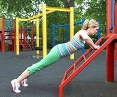 Who needs a gym to exercise? A trip to the playground is all it takes for moms to get in better shape.