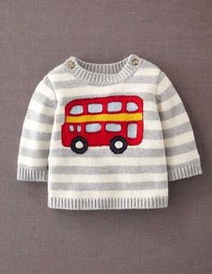 I've spotted this @BodenClothing Logo Sweater Grey & Ecru Bus