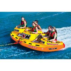 WOW World of Watersports 151090 Tootsie Sister Series Face to Face S Shaped Towable Front and Back Tow Points 1 to 5 Person >>> Check this awesome product by going to the link at the image. (This is an affiliate link) Summer Pool, Summer Fun, Fun Tube, Boat Tubes, Lake Floats, Lake Toys, Cool Pool Floats, Sports Nautiques, Wow World