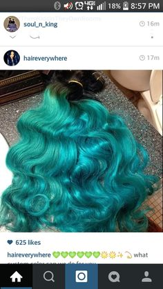Turquoise Brazilian Malaysian hair everywhere HEW