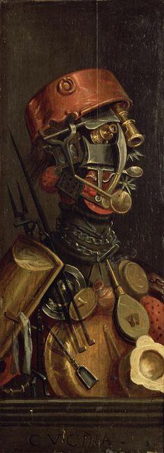 The Cook, by Giuseppe Arcimboldo.  © Bridgeman Art Library / Kunsthistorisches Museum, Vienna, Austria ~  C.  the first steam punk piece? ~