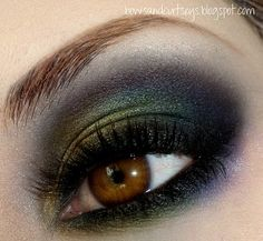 green and blue smoky #eye #makeup