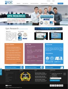 Epic Research Private Limited's main website designed by Zolute
