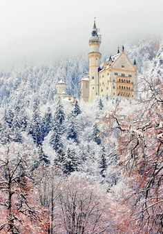 Schloss in Bavaria (castle) built in 1790 by a Grand Duke in Agatha Christie's novel. (Actually Neuschwanstein Castle, Bavaria, Germany, Alps. Places Around The World, Oh The Places You'll Go, Places To Travel, Places To Visit, Germany Castles, Neuschwanstein Castle, Famous Castles, Ice Castles, Belle Photo
