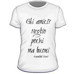 Maglietta personalizzata Gli amici meglio pochi ma buoni hannibal lecter