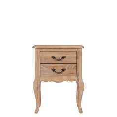 Adelise 2 Drawer Oak Bedside Table