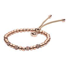 Michael Kors Brilliance Rose Gold Plated Bead Bracelet