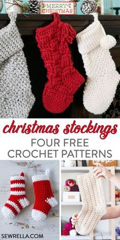 Arts and crafts festival key: we need stockings diy christmas stocking pattern, crochet christmas stockings, crochet christmas gifts, Diy Christmas Stocking Pattern, Holiday Crochet Patterns, Crochet Stocking, Crochet Christmas Gifts, Crochet Christmas Decorations, Crochet Christmas Stockings, Xmas Stockings, Crochet Ideas, Free Christmas Crochet Patterns
