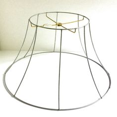 How to create an easy craft cabinet wall recycling repurposing lamp shade frames wire greentooth Images