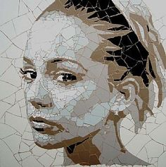 Elizabeth (London Girl 1)  Ed chapman mosaic art