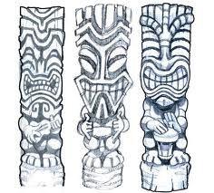 tiki carvings drawings - Google Search