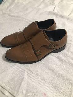 8651257de56 Mens Size 12 Joseph Abboud Brown Leather Dress Shoes  fashion  clothing   shoes
