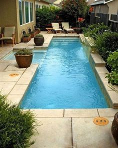 Perfect Small Pool Design Ideas For Backyard. Here are the Small Pool Design Ideas For Backyard. This article about Small Pool Design Ideas For Backyard was posted Small Swimming Pools, Small Backyard Pools, Backyard Pool Designs, Small Pools, Swimming Pools Backyard, Swimming Pool Designs, Backyard Patio, Backyard Landscaping, Backyard Ideas