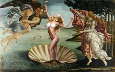 BIRTH OF VENUS...Applause is my favourite music video, because: A.  It's brilliant.  And B.  So many costume designs are based off famous work of art (I'm an artist) ♡♡♡