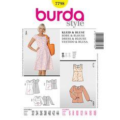 Burda 7798 Women's Dress And Top 6 - 18   Spotlight Australia