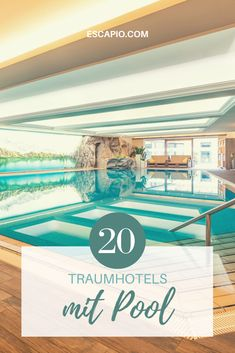 Entdecke die wunderschönsten Hotels mit Pool - jetzt auf ESCAPIO! #wellnesshotel #pool #reisen #urlaub #hotels Bio Sauna, Bali, Riad, Indoor Swimming Pools, Hotels, Short Breaks, Steam Bath, Relax Room, Vacation