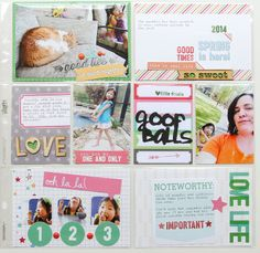 Patricia Roebuck used a mix of Elle's Studio items, including items from our Love you More and Everyday Moments collections, plus our exclusive and limited edition March and April kits.