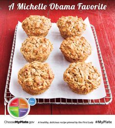 Shredded apples and chopped walnuts make these muffins taste like a warm bite into next season. Get the recipe for Apple-Oat Muffins Oat Muffins, Breakfast Muffins, Healthy Muffins, Yummy Food, Tasty, Delicious Recipes, Galette, Muffin Recipes, Sweet Bread