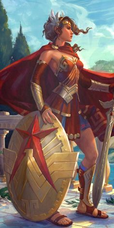 #Wonder #Woman #Fan #Art. (Infinite Crisis Wonder Woman) By: Anna Christenson. (THE * 5 * STÅR * ÅWARD * OF: * AW YEAH, IT'S MAJOR ÅWESOMENESS!!!™)[THANK U 4 PINNING<·><]<©>ÅÅÅ+(OB4E)
