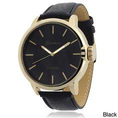 Geneva Platinum Faux Leather Band Quartz Watch   Overstock™ Shopping - Big Discounts on Geneva Platinum Geneva Women's Watches