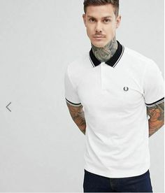912cedfd Fred Perry tipped polo in white Size Large #fashion #clothing #shoes  #accessories