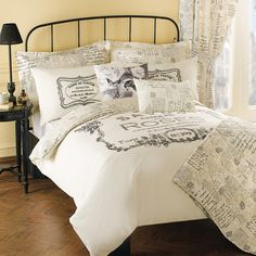 Cream Vintage Paris Collection from Dunelm. Need this for my new bedroom!!