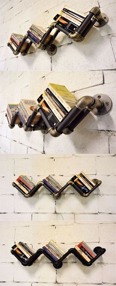 Wall Shelves 45501: 36 Modern Industrial Style Wall Mount Bookshelf Bookcase Pipe Shelf Furniture -> BUY IT NOW ONLY: $138.95 on eBay!