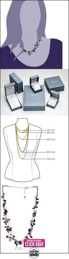 Dew 90GEAM - Collar de mujer de plata de ley con amatistas, perlas y cristales, 46 cm  ✿ Joyas para mujer - Las mejores ofertas ✿ ▬► Ver oferta: https://comprar.io/goto/B000RLWNDE
