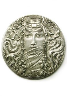 Vintage French Art Nouveau Button. I would totally use this as the centerpiece of a piece of jewelry .